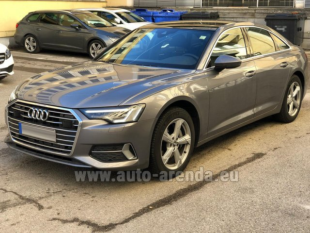 Hire and delivery to Luxembourg Findel Airport the car Audi A6 45 TDI Quattro