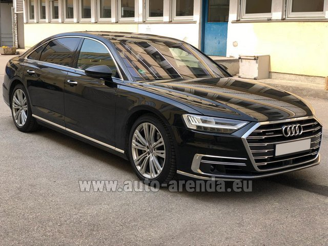 Rental Audi A8 Long 50 TDI Quattro in Luxembourg City