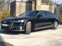 Audi A8 Long 50 TDI Quattro car for transfers from airports and cities in Germany and Europe.