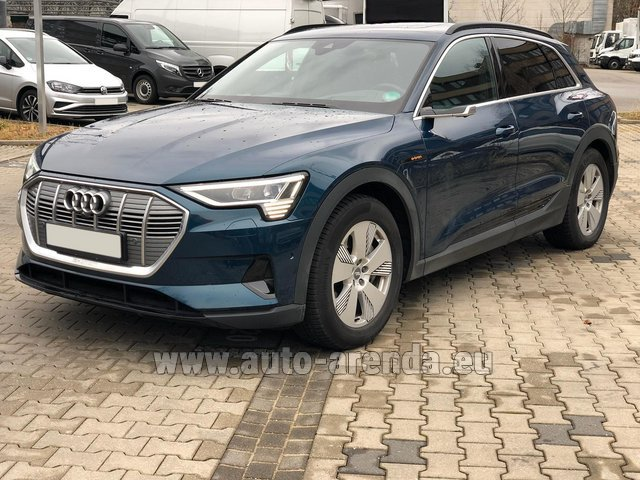Rental Audi e-tron 55 quattro (electric car) in Luxembourg