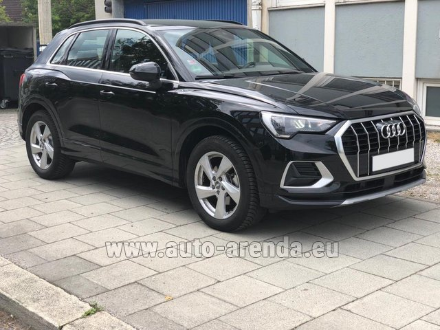 Hire and delivery to Luxembourg Findel Airport the car Audi Q3 35 TFSI Quattro