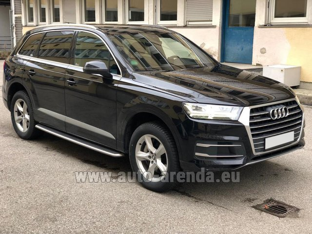 Rental Audi Q7 50 TDI Quattro 5-7 seats in Luxembourg City
