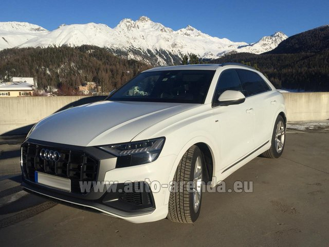 Hire and delivery to Luxembourg Findel Airport the car Audi Q8 50 TDI Quattro