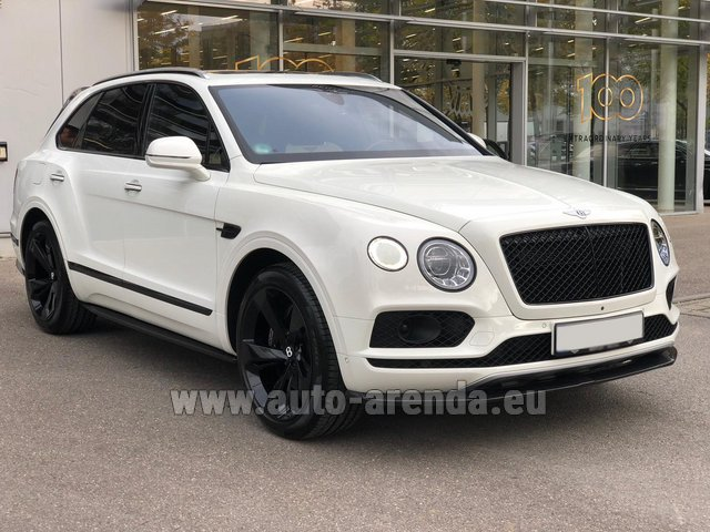 Rental Bentley Bentayga 6.0 litre twin turbo TSI W12 in Luxembourg City