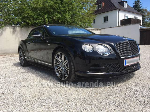 Rental Bentley Continental GTC V12-Speed in Dudelange