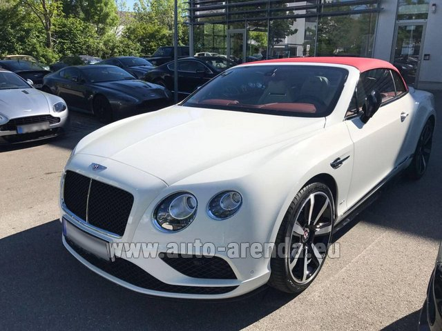 Rental Bentley Continental GTC V8 S in Diekirch