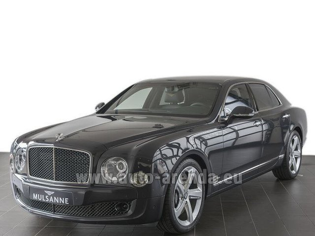 Rental Bentley Mulsanne Speed V12 in Luxembourg City