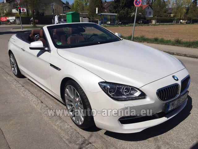 Rental BMW 640 Cabrio Equipment M-Sportpaket in Luxembourg