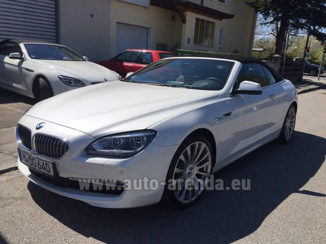 Rental BMW 640d Cabrio Equipment M-Sportpaket in Esch-sur-Alzette