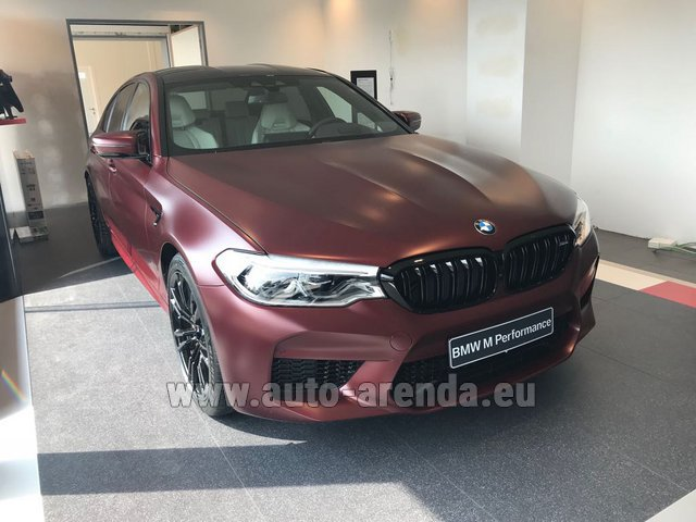 Rental BMW M5 Performance Edition in Luxembourg