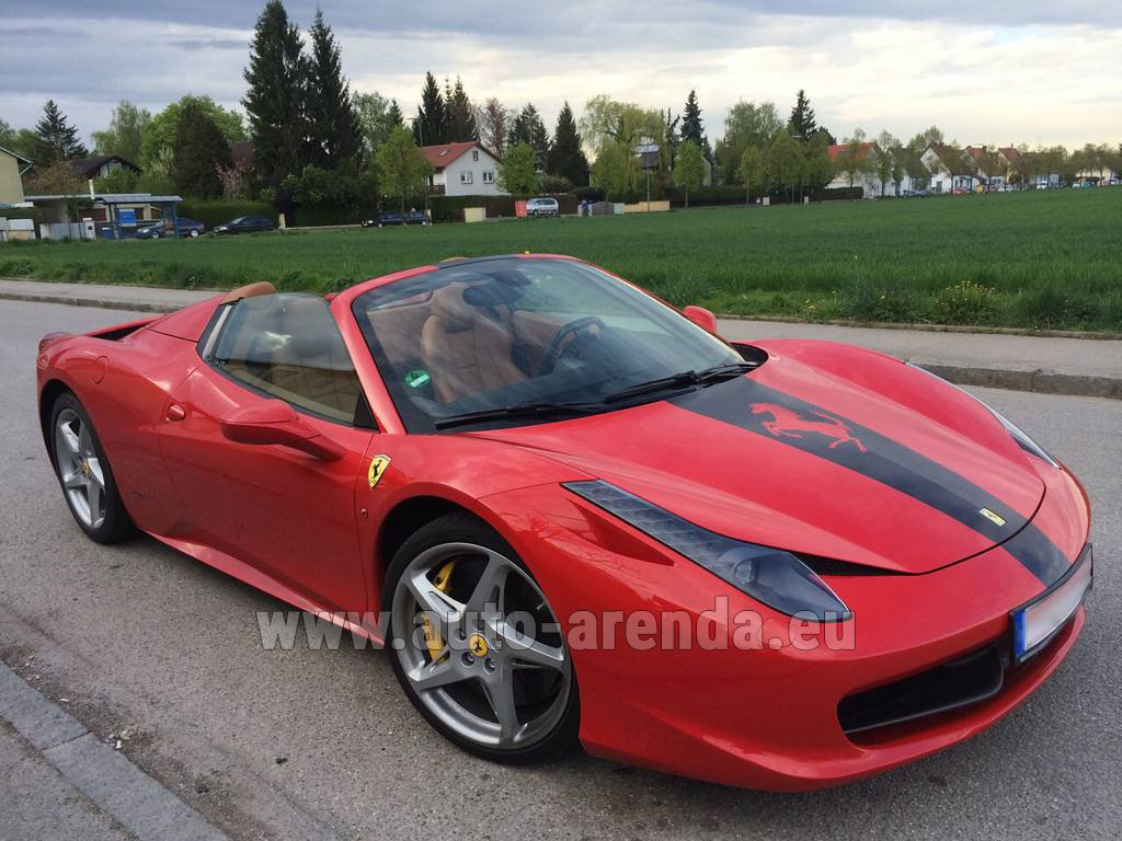 Rent The Ferrari 458 Italia Spider Cabrio Car In Luxembourg