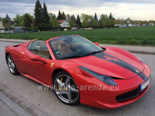 Rental Ferrari 458 Italia Spider Cabrio in Diekirch