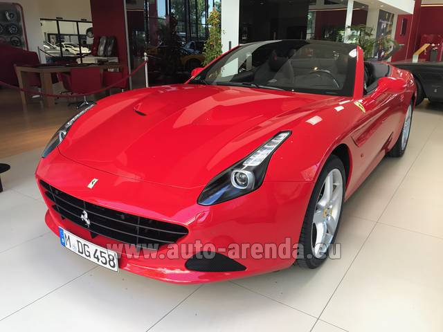Rental Ferrari California T Convertible Red in Differdange