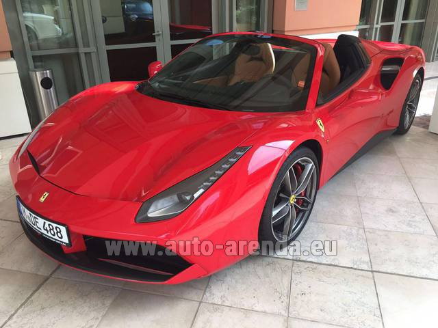 Rental Ferrari 488 GTB Spider Cabrio in Differdange