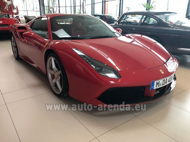 Rental Ferrari 488 Spider in Luxembourg City