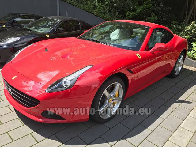 Rental Ferrari California T Cabrio Red in Luxembourg