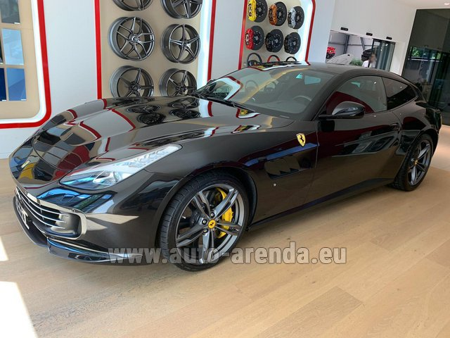 Hire and delivery to Luxembourg Findel Airport the car Ferrari GTC4Lusso