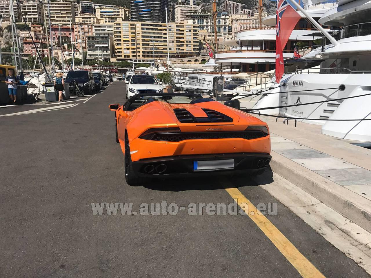 Rent the Lamborghini Huracan Spyder Cabrio car in Luxembourg