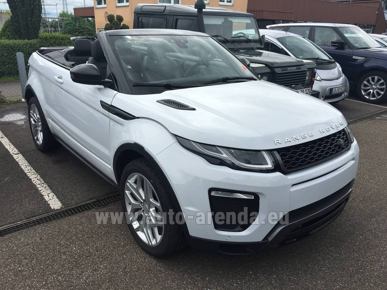 rent land rover range rover evoque hse cabrio sd4 aut dynamic in luxembourg city. Black Bedroom Furniture Sets. Home Design Ideas