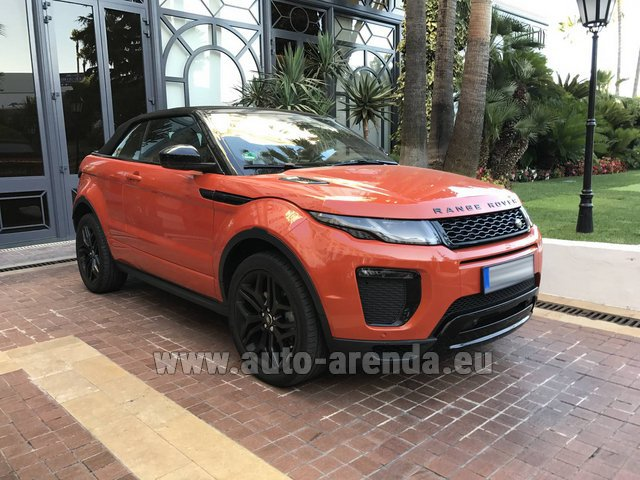 Rental Land Rover Range Rover Evoque HSE Cabrio SD4 in Diekirch