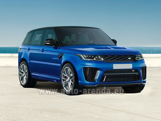 Rental Land Rover Range Rover Sport SVR V8 in Differdange