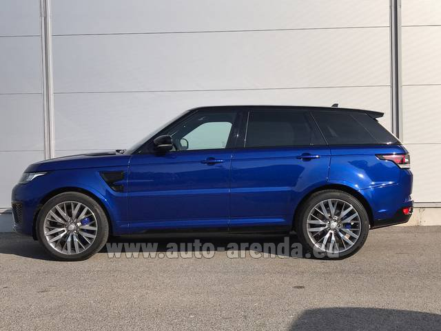 Rental Land Rover Range Sport SVR V8 in Diekirch