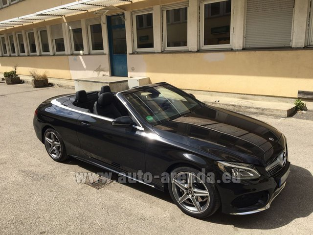 Rental Mercedes-Benz C-Class C 180 Cabrio AMG Equipment Black in Diekirch