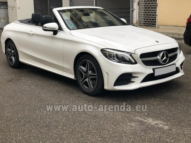 Rental Mercedes-Benz C-Class C 180 Cabrio AMG Equipment White in Diekirch