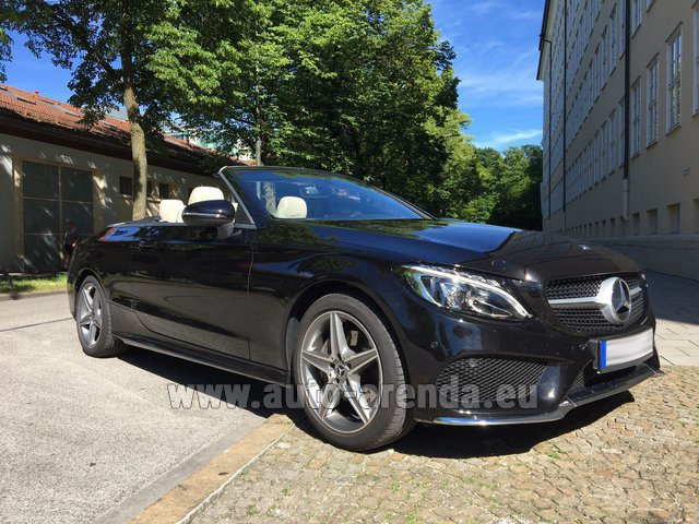 Rental Mercedes-Benz C-Class C 180 Cabrio AMG Equipment Black in Esch-sur-Alzette