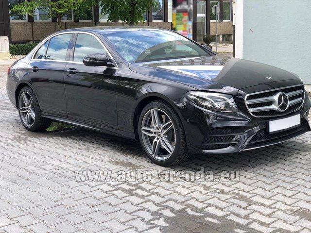 Rental Mercedes-Benz E 450 4MATIC saloon AMG equipment in Luxembourg City