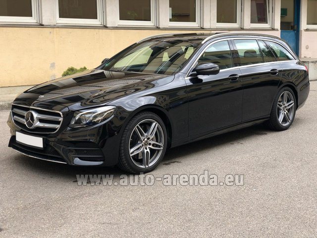 Rental Mercedes-Benz E 450 4MATIC T-Model AMG equipment in Luxembourg City