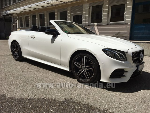 Rental Mercedes-Benz E-Class E 200 Cabrio equipment AMG in Diekirch