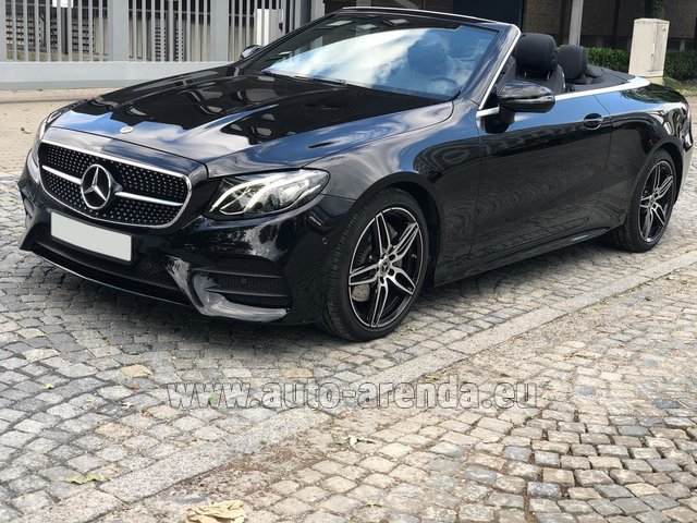 Rental Mercedes-Benz E-Class E220d Cabriolet AMG equipment in Diekirch