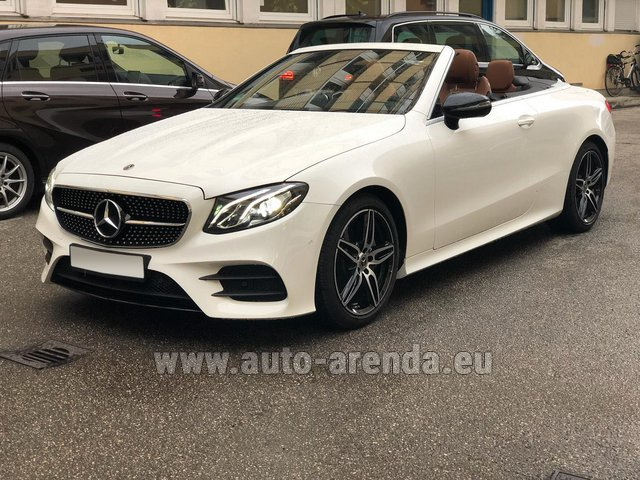 Rental Mercedes-Benz E-Class E300d Cabriolet diesel AMG equipment in Diekirch