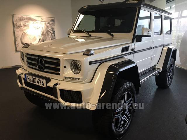 Rental Mercedes G 500 4x4 White in Dudelange