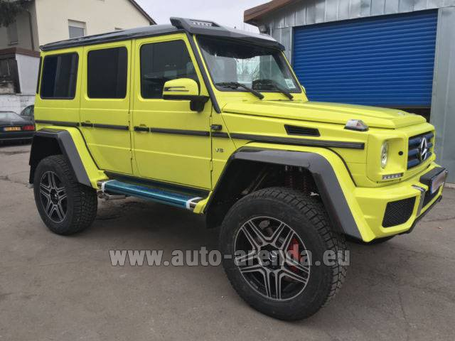 Rental Mercedes-Benz G 500 4x4 Yellow in Rumelange