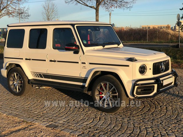 Rental Mercedes-Benz G 63 AMG White in Diekirch