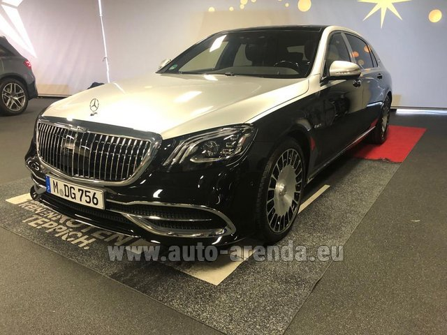 Прокат Maybach S 560 4MATIC комплектация AMG Metallic and Black в Люксембурге