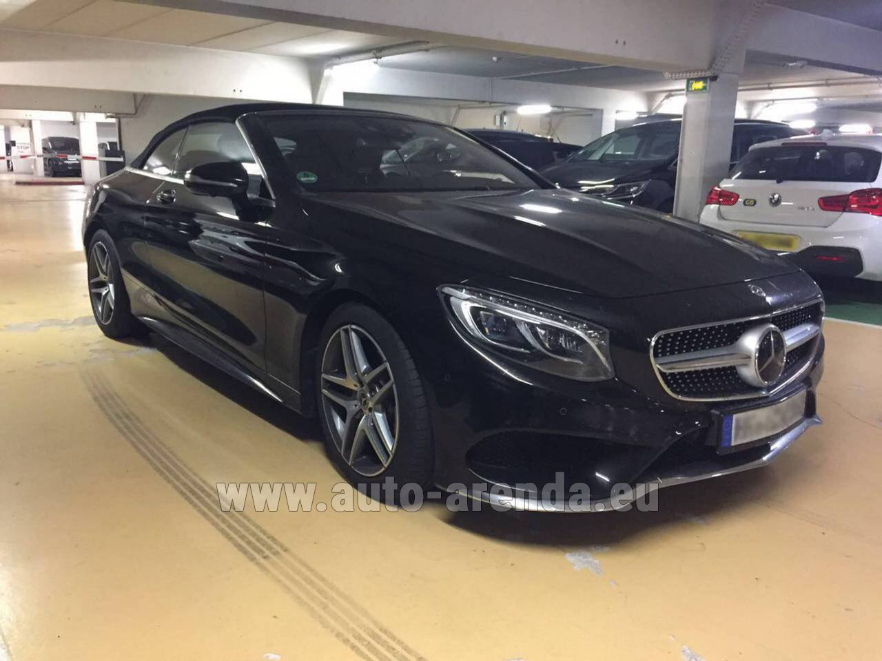 Luxembourg mercedes benz s 500 cabrio black rental for Mercedes benz rental prices