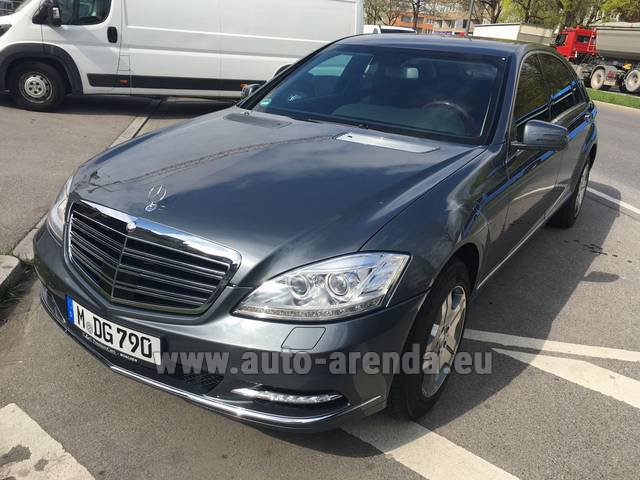 Rental Mercedes-Benz S 600 L B6 B7 ARMORED Guard FACELIFT in Luxembourg City