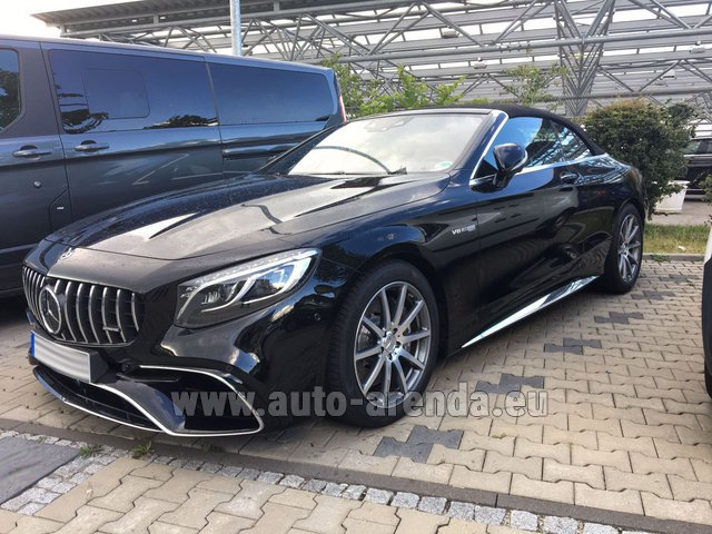 Rental Mercedes-Benz S 63 AMG Cabriolet V8 BITURBO 4MATIC+ in Luxembourg