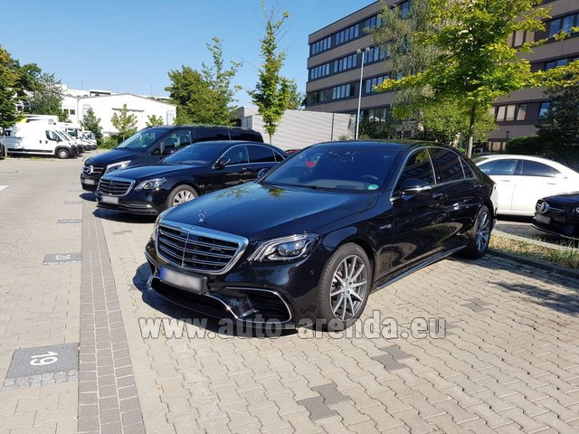 Rental Mercedes-Benz S 63 AMG Long in Luxembourg City
