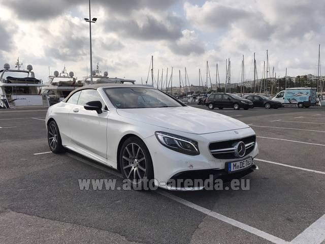Rental Mercedes-Benz S 63 Cabrio AMG in Luxembourg