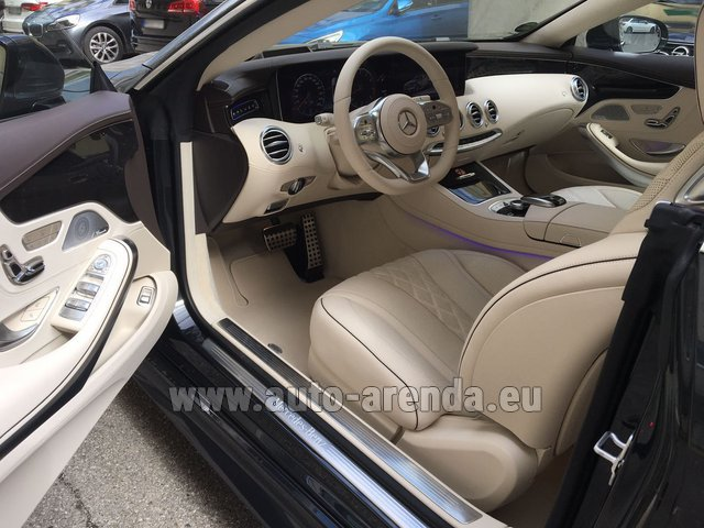 Rental Mercedes-Benz S-Class S 560 4MATIC Coupe in Ettelbruck