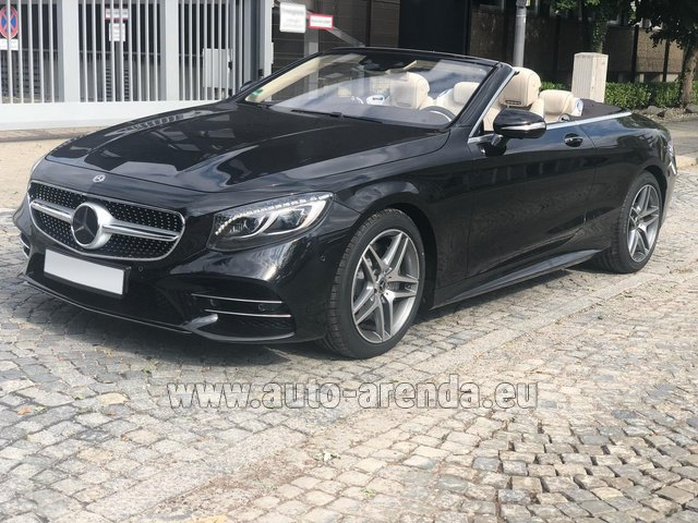 Rental Mercedes-Benz S-Class S 560 Cabriolet 4Matic AMG equipment in Diekirch