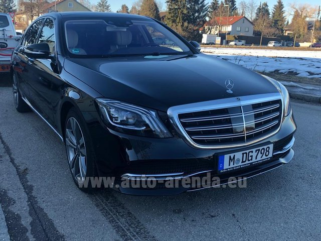 Rental Mercedes-Benz S-Class S400 Long Diesel 4Matic AMG equipment in Luxembourg