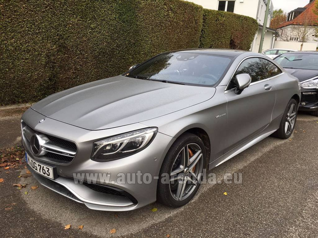 Rent The Mercedes Benz S Class S63 Amg Coupe Car In Wiltz