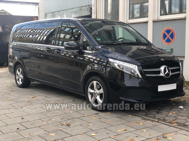 Hire and delivery to Luxembourg Findel Airport the car Mercedes-Benz V-Class V 250 Diesel Long (8 seater)