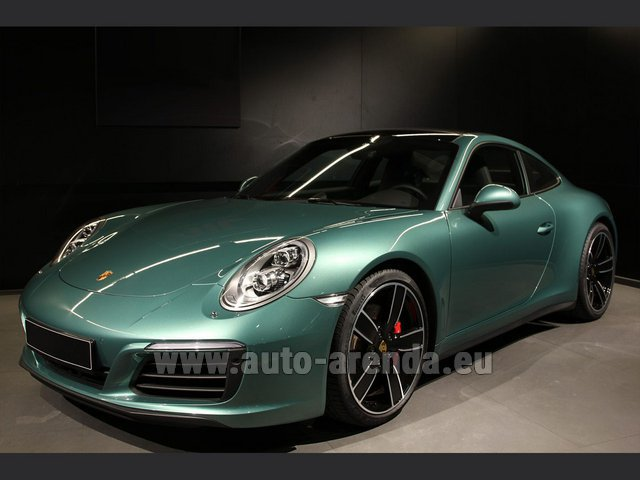 Rental Porsche 911 991 4S Racinggreen Individual Sport Chrono in Diekirch