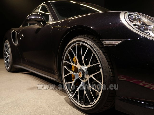 Rental Porsche 911 991 Turbo S Ceramic LED Sport Chrono Package in Echternach